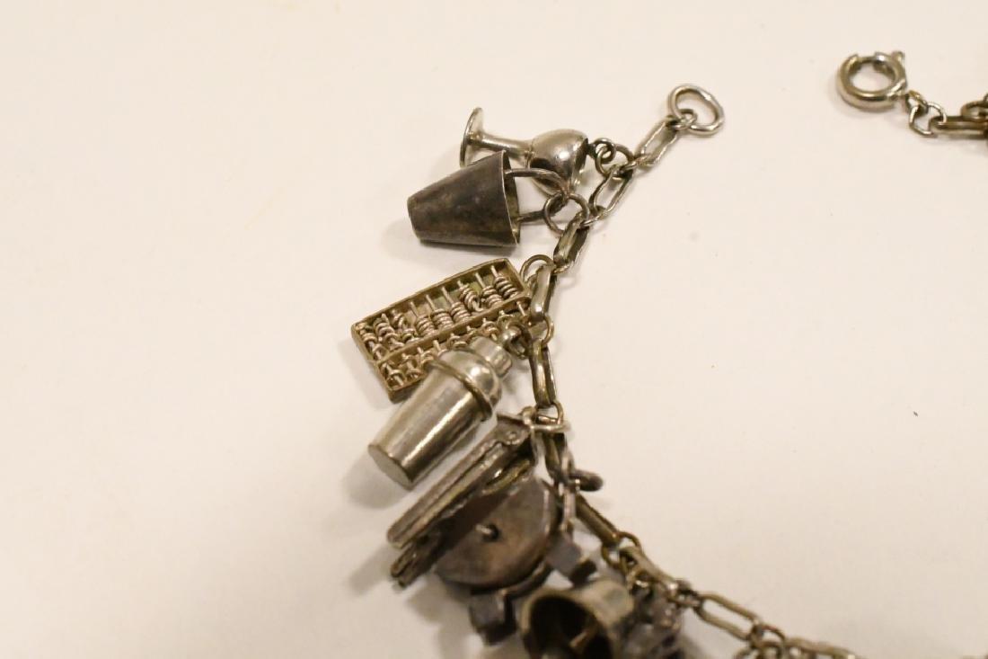 Vintage Sterling Silver Charm Bracelet - 2