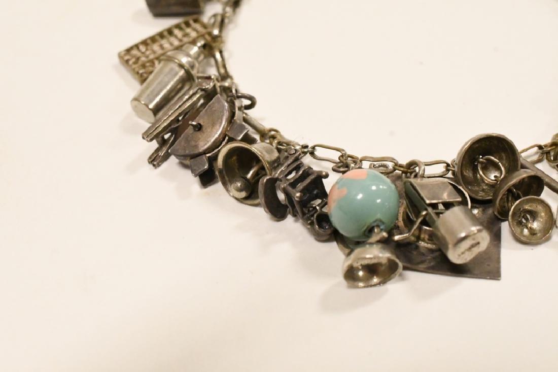 Vintage Sterling Silver Charm Bracelet - 3
