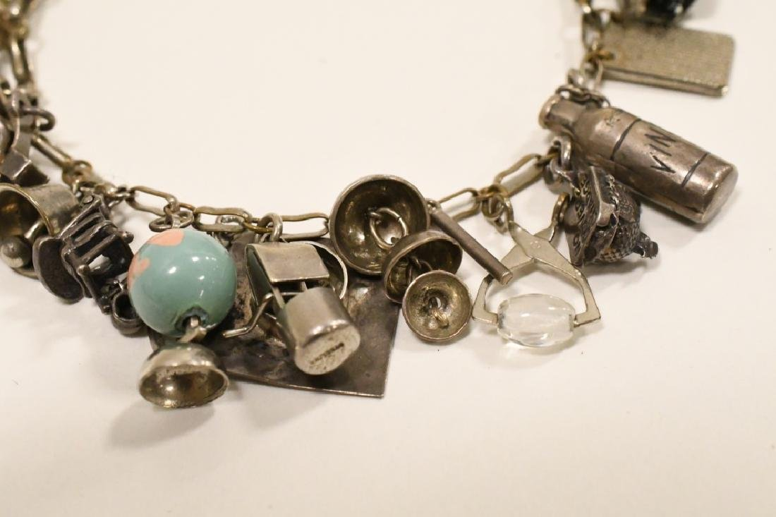 Vintage Sterling Silver Charm Bracelet - 4