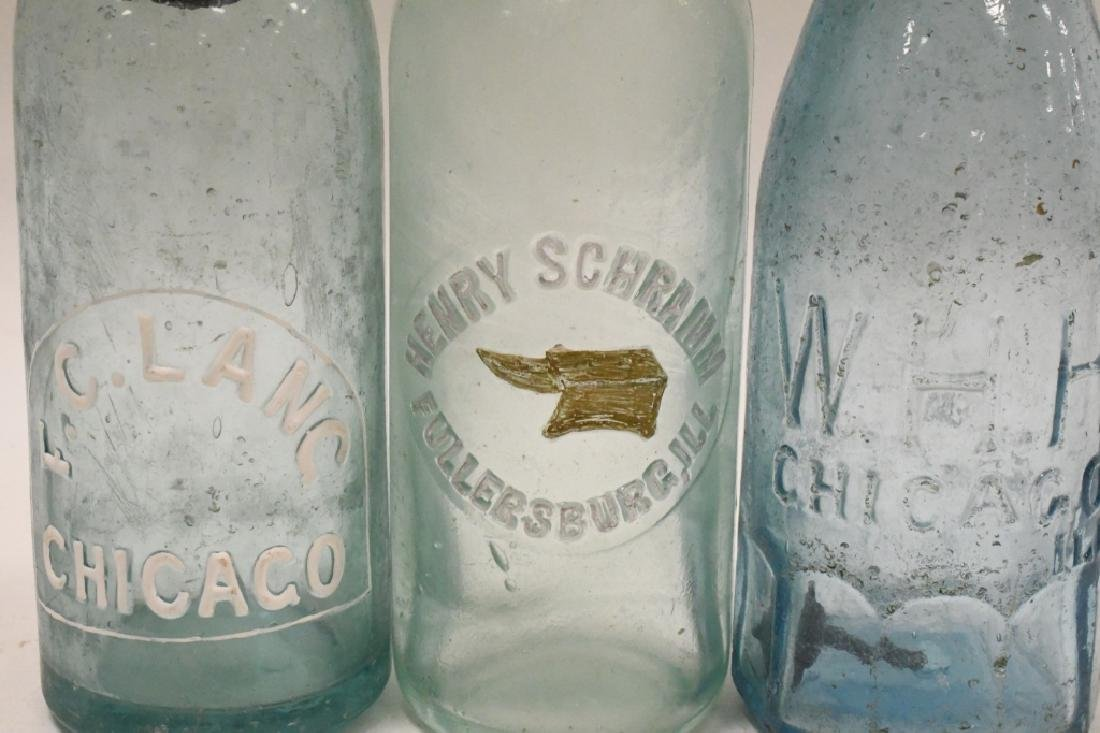Lot of 3 Early Soda Bottles - 2