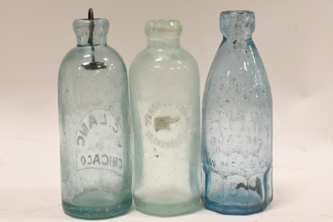 Lot of 3 Early Soda Bottles - 3