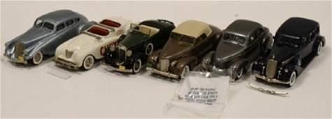 Lot Of Six 1:43 Scale Brooklin Models Cars