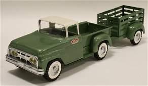 Restored 1964 Tonka Pickup w Matching Trailer