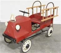 Vintage Steelcraft Mack Fire Truck Pedal Car