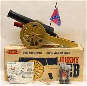 1967 Remco Johnny Reb Civil War Cannon In Box