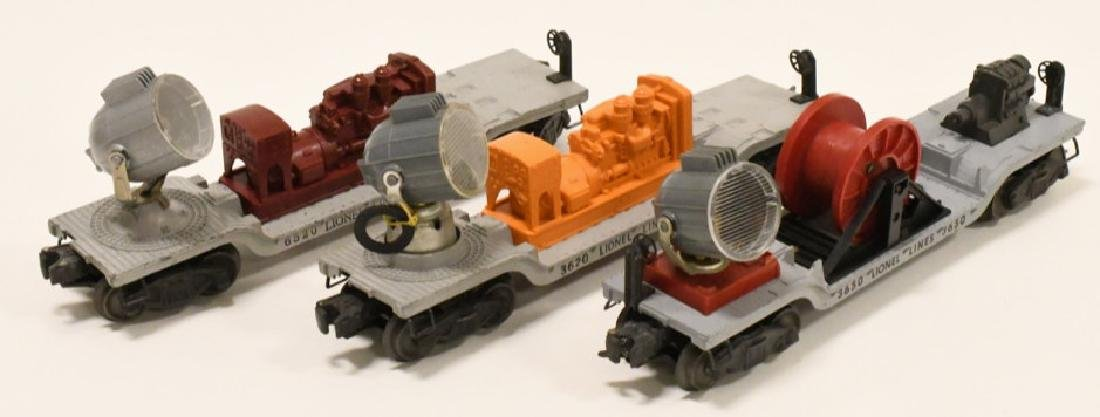 Lot Of 3 Post War Lionel Searchlight Cars