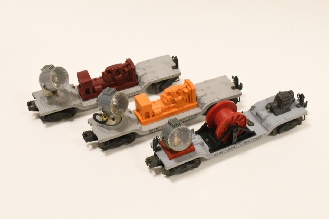 Lot Of 3 Post War Lionel Searchlight Cars - 2