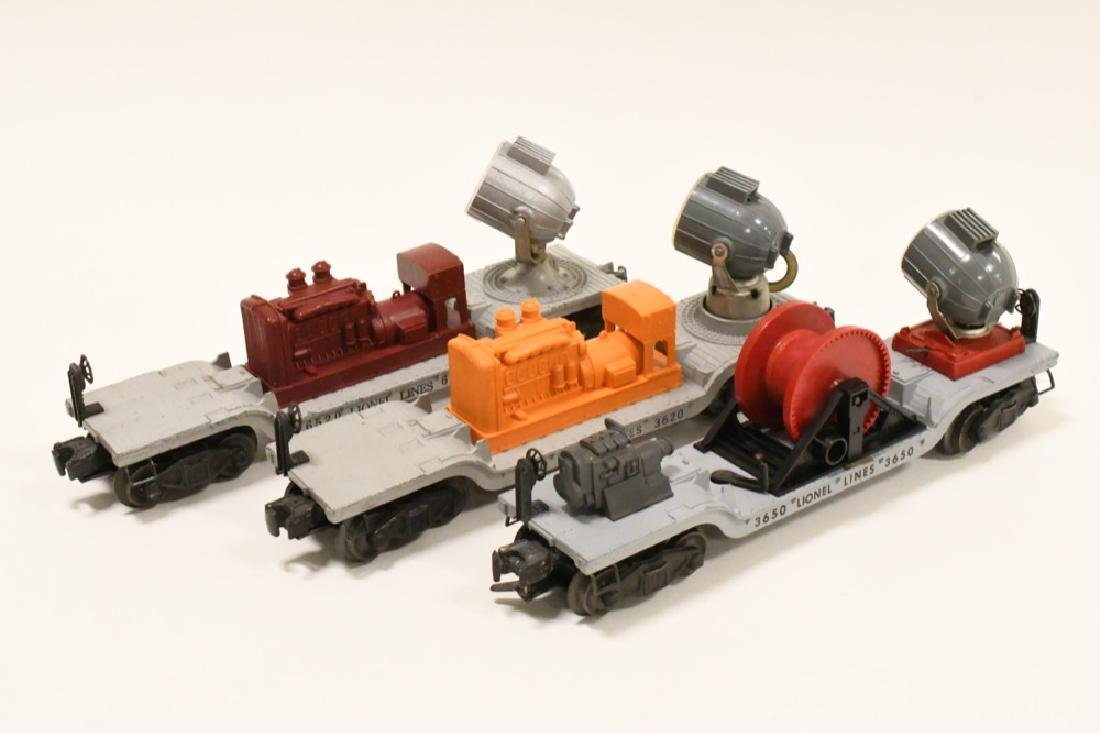 Lot Of 3 Post War Lionel Searchlight Cars - 3