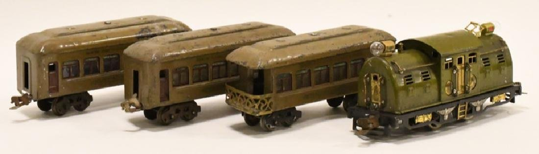 Pre War Lionel 254 Locomotive With Pullman Cars