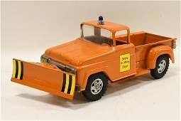Restored Tonka State Hi-Way Stepside Truck w Plow