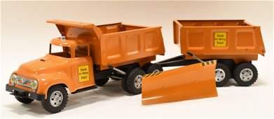 Tonka State Hi-Way Dept Dump Truck & Dump Trailer