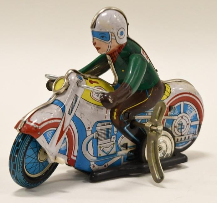 Wind Up Tin Toy Motorcycle MS-702