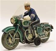 TippCo Western Germany Tin Litho Police Motorcycle