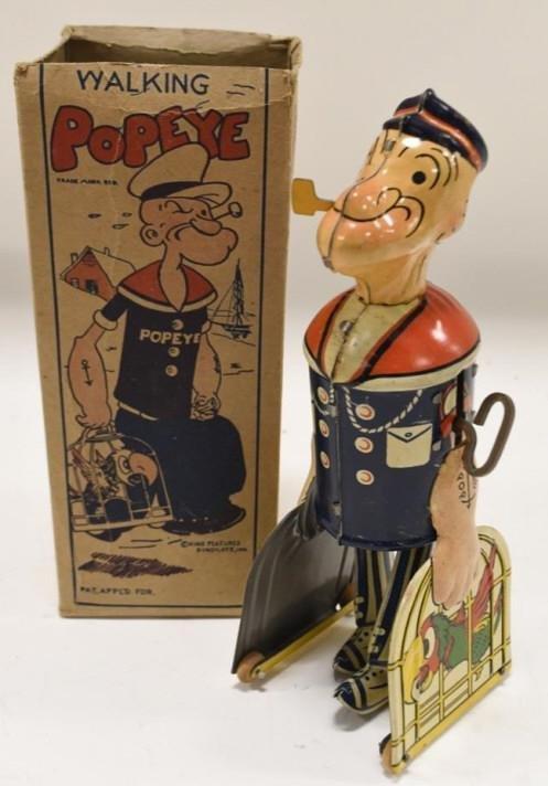 Marx Tin Toy Wind-Up Walking Popeye