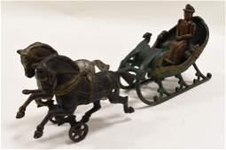Hubley Horse-Drawn Sleigh
