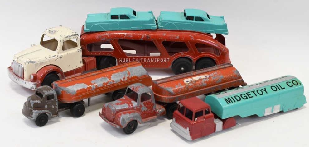 Lot of Tanker Trucks and Car Hauler