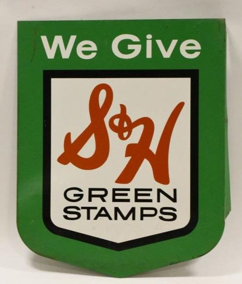 DST Flange S&H Green Stamps Advertising Sign