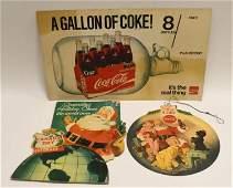 Vintage Soda Paper Advertising Sign Lot