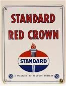 SSP Standard Oil  Red Crown Gas Pump Plate
