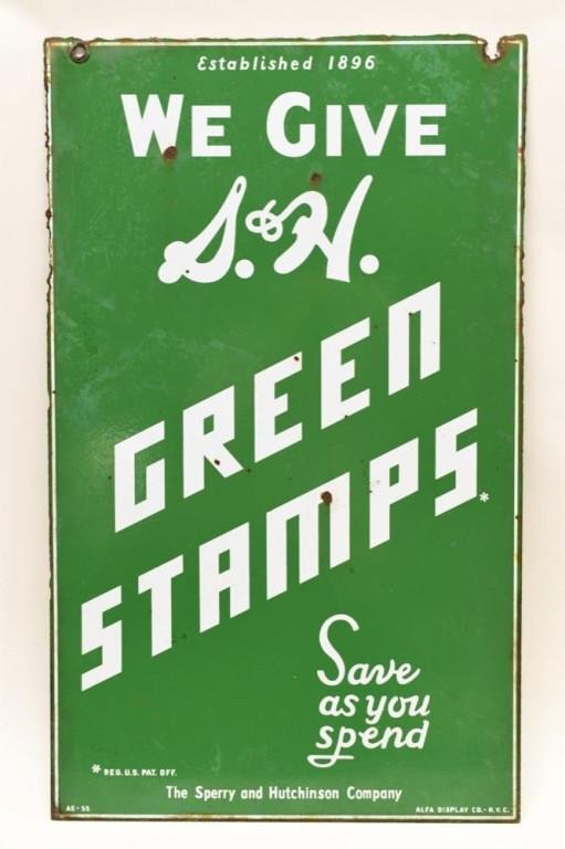 DSP S&H Green Stamps Advertising Sign