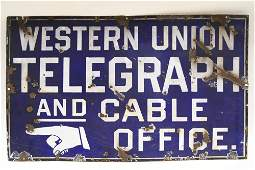 Vintage DSP Western Union Advertising Sign