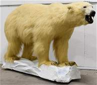 Full Body Polar Bear Mount On Base
