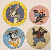 Lot Of 4 WWII Movie Studio Bomber Sqn. Patches
