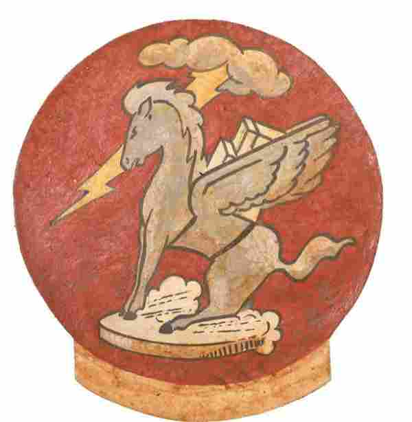 WWII Bomber Squadron Leather Flight Jacket Patch