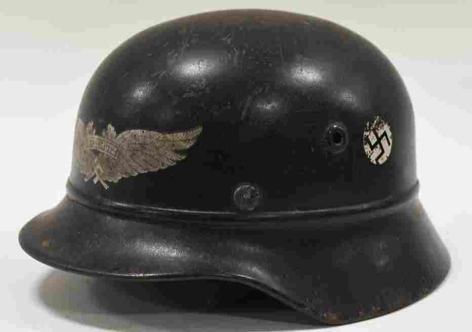 WWII German Luftschutz M-35 Beaded Helmet