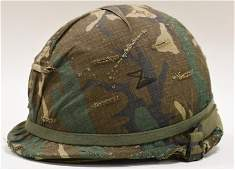 Vietnam War Era US MIlitary M1 Helmet w Liner