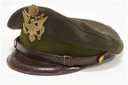 WWII US Military Crusher Visor Cap