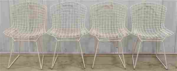 Set of Knoll Harry Bertoia Styled Wire Side Chairs