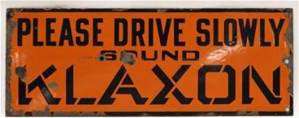 Vintage SSP Klaxon Horn Advertising Sign