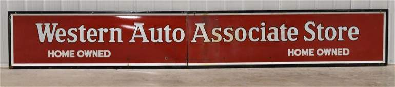 Large SSP Western Auto Associate Store Adv Sign