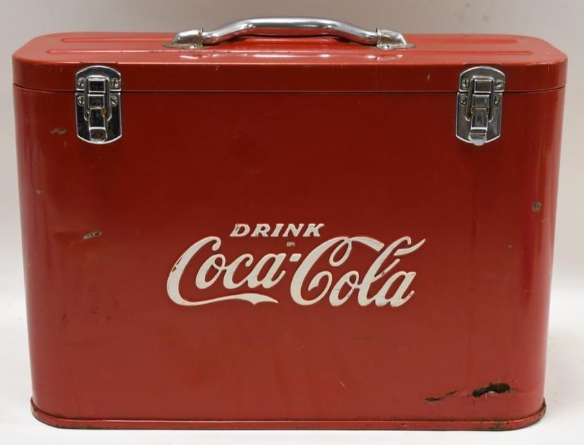 Vintage Coca-Cola Cavalier Junior Airline Cooler