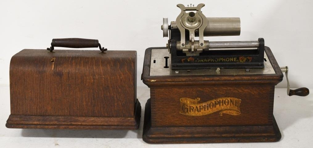 American Graphophone Co. Cylinder Player in Case