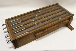 Early Wooden Carnival Marble Skill Game