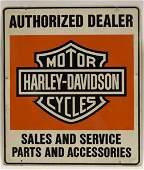 Vintage DST Harley Davidson Dealership Adv Sign