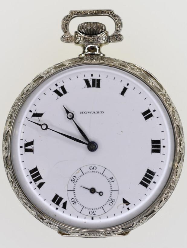 14K Gold Howard Series 7 Open Face Pocket Watch