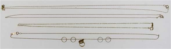 Lot Of 10K  14K Gold Necklaces 48 grams