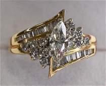 Ladies 14K Yellow Gold 1cttw Diamond Ring