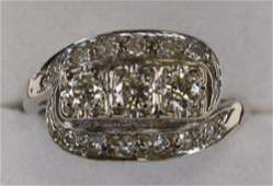 Ladies 14K White Gold Genuine Diamond Dinner Ring