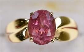 Ladies 14K Gold Pink Tourmaline Cocktail Ring