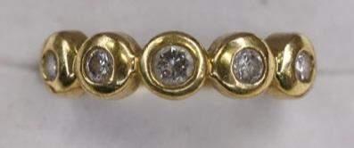 Ladies 14K Yellow Gold Diamond Dinner Ring