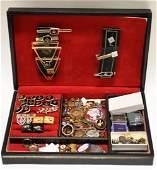 Vintage Masonic Jewlery Box Full