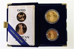 1987 American Eagle Gold Proof Two-Coin Set