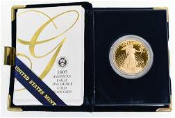 2005 American Eagle One Ounce Gold Proof Coin
