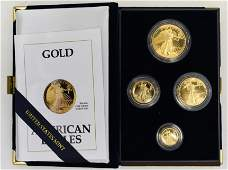 1991 American Eagle Gold Proof Four-Coin Set