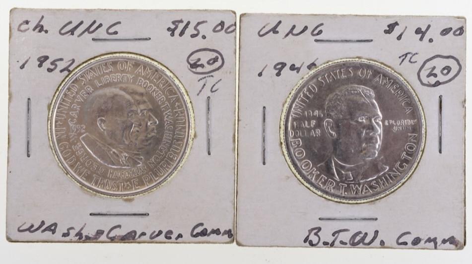 BT Washington & Washington-Carver Half Dollars