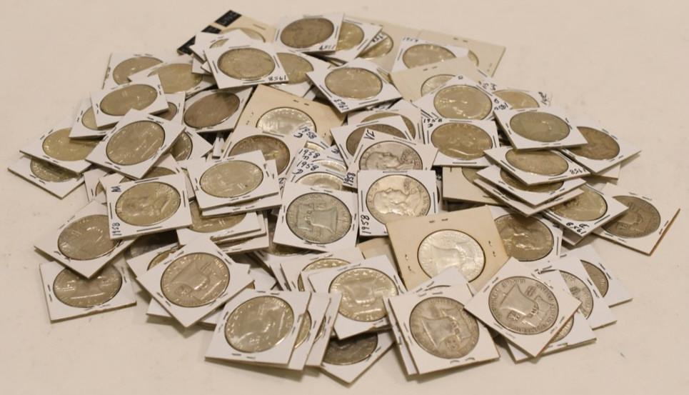 $55 Face 1957-1963 Silver Franklin Half Dollars